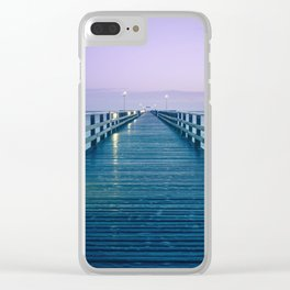Seebruecke Bridge Zinnowitz Germany Usedom Island Mecklenburg Western Pomerania Ultra HD Clear iPhone Case