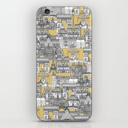 Paris toile gold iPhone Skin