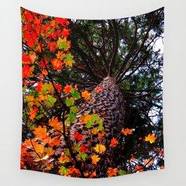 Up a Tree-2, Vivid revision. Wall Tapestry