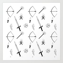 Dungeons and Patterns Art Print