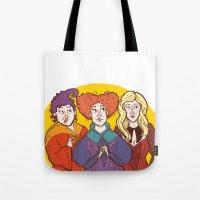 hocus pocus Tote Bags featuring Hocus pocus by natichuleta