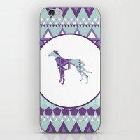 greyhound iPhone & iPod Skins featuring Greyhound Geometri by Simon Alenius