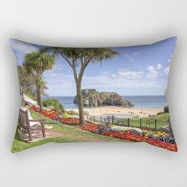 Summer sun at Tenby  Rectangular Pillow