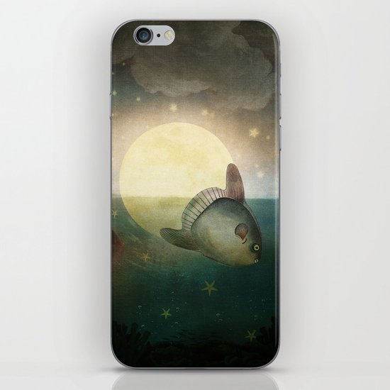 The Fish That Stole The Moon iPhone & iPod Skin