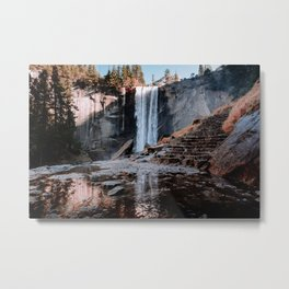 Vernal Falls Reflection - Yosemite Metal Print