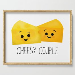 Cheesy Couple | Swiss & Cheddar Cheese Serving Tray