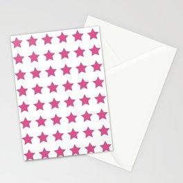 Falling Stars (pink star pattern) Stationery Cards
