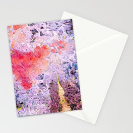 Lavender Hearts Stationery Cards