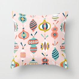 Decorated Blush Pink Throw Pillow