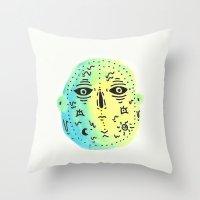 weird Throw Pillows featuring weird  by Alba Blázquez