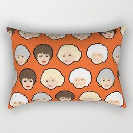 The Golden Girls Orange Pop Art Rectangular Pillow