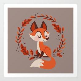 Cute Foxes Art Print
