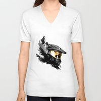 master chief V-neck T-shirts featuring Master Chief by tshirtsz