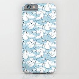 Arctic Fox - Blue iPhone Case