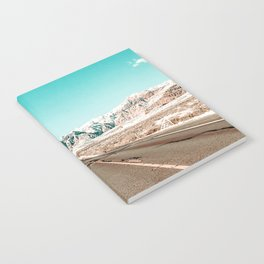 Vintage Desert Road // Winter Storm Red Rock Canyon Las Vegas Nature Scenery View Notebook