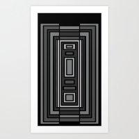gray pattern Art Prints featuring Gray by Emma Michels