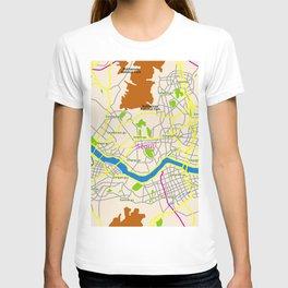 Seoul map Design T-shirt