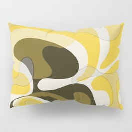 Yellow and Black Abstract Pillow Sham