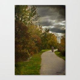 Brisk walk Canvas Print