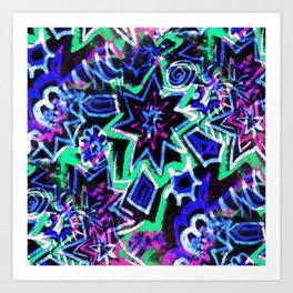 Pop Art Blues Art Print
