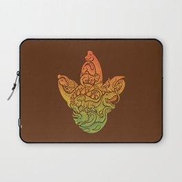 Prehistoric Print (brown) Laptop Sleeve