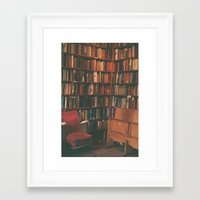 library Framed Art Prints featuring library by Taylor Yocom