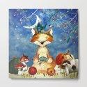 Autumn Woodland Friends Fox Forest Illustration by betterhome