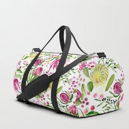 Protea Flower Bloom Duffle Bag