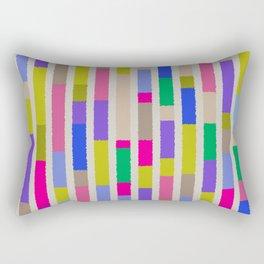 Bright Multi Blocks Pattern Vivid Stripes Geometric Decor Rectangular Pillow