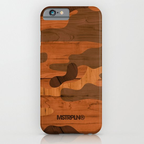 Modern Woodgrain Camouflage / Woodland Print iPhone & iPod Case