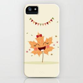 Feuille d'automne iPhone Case