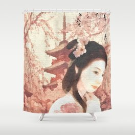 Asian Rose Shower Curtain