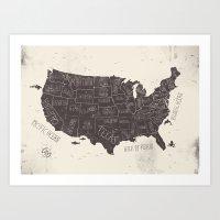 usa Art Prints featuring USA by Mike Koubou