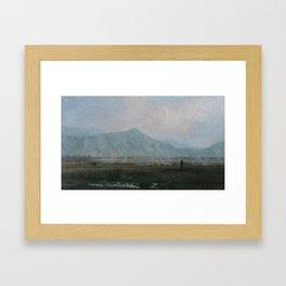 Smoky valley. Kirghizia. Framed Art Print