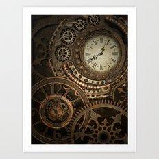 Steampunk Clockwork Art Print