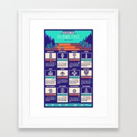 calendar 2015 Framed Art Prints featuring Calendar 2015 / Geometric Nature by Adline / Szende Brassai