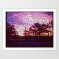 Pink Sunrise Art Print