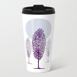 Cold Trees Metal Travel Mug