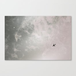 Black and white photography Sky photo minimalist Plane print Travel photography Aviation poster Canvas Print