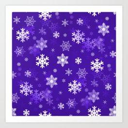 Light Purple Snowflakes Art Print
