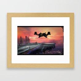 Landing Station Framed Art Print