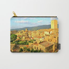 View of San Gimignano, Italy, from Albergo La Cisterna Hotel Carry-All Pouch