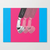 macaron Canvas Prints featuring macaron by yard