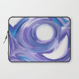 Wind on the City --  Abstract painting in modern lavender purple with hints of bright blue Laptop Sleeve