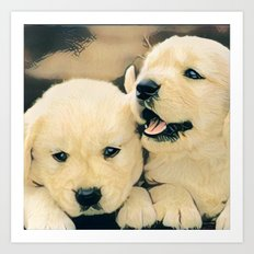 puppies Art Print