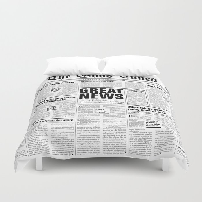 The Good Times Vol. 1, No. 1 / Newspaper with only good news Bettbezug