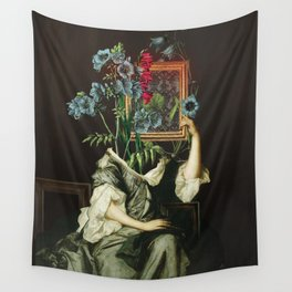 Florales Portrait Disaster Wall Tapestry