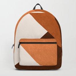 Geometric Blocks in Terracotta Backpack