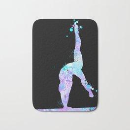 Paint Splash Gymnast Bath Mat