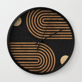 Arches - Minimal Geometric Abstract 2 Wall Clock
